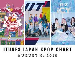 Itunes Japan Itunes Kpop Chart August 9th 2019 2019 08 09