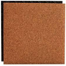 cork 18 5 in x 18 5 in interlocking waterproof vinyl tile with built in underlayment 19 04 sq ft case