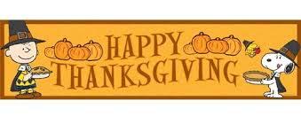 Amazon.com: Eureka Peanuts Classroom Banner, Happy Thanksgiving, 12