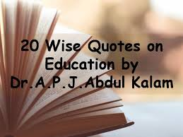 Education Quotes Classy 48 Wise Quotes On Education By Abdul Kalam