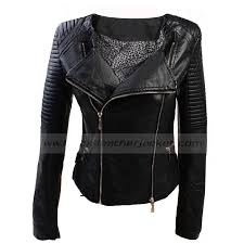 Womens PVC Quilted Jacket | Black Biker Faux Leather Jacket & Womens PVC Quilted Biker Faux Leather Jacket Black Adamdwight.com
