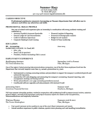 Resume Objective For Internship Resume Finance Internship Resume Objective