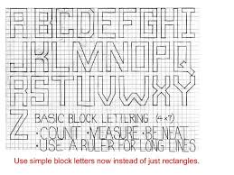 Alphabet Block Letters On Graph Paper Magdalene Project Org