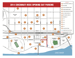 Cincinnati Reds Seating Chart Great American Ballpark Parking Guide Rates Maps Tips