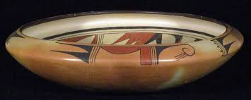 HOPI Myra Daniels polychrome Rainbird 14-inch bowl   #1813215181