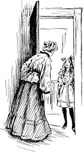 open door clipart black and white. Woman Answering Door · Clipart Open Black And White C