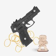 """Пистолет Ярыгина (ПЯ) """"Грач"""": окрашенный деревянный макет ..."""