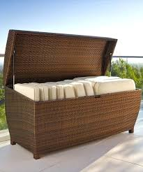 patio furniture cushion storage our all weather wicker storage chest is both durable and functional use