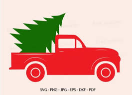 Once payment has cleared you will receive the download links via email, and the download links can also be found in your etsy. Red Truck Christmas Tree Svg Red Truck Graphic By Redcreations Creative Fabrica