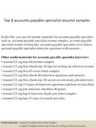 Accounts Payable Resume Simple Sample Of Accounts Payable Resume Radiovkmtk