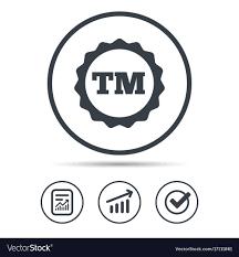 Tm Trademark Symbol Registered Tm Trademark Icon Intellectual Work Vector Image