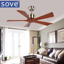 2018 42 inch bronze village wooden ceiling fan with remote control attic without light fan bedroom home 220v wood blade ceiling fan from i