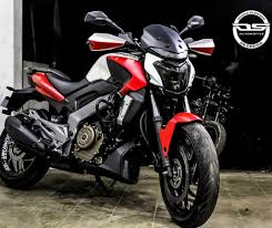 Cr Decals Designs Dominar 400 Bajaj Dominar Power Cruiser In Matte Chrome Red White By