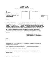 Letter For Power Of Attorney Sample Letter Of Power Attorney For Authorization