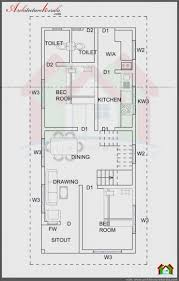 best row house plan design for 1800 square feet modern house
