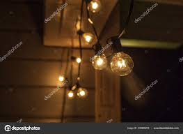 Hanging Garden String Lights Decorative Outdoor String Lights Hanging On Tree In The
