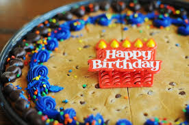 A 7th Birthday Recipe Chocolate Chip Cookie Cake Dine And Dish
