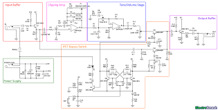 electrosmash tube screamer circuit analysis tube screamer block diagram