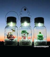 solar mason jars solar mason jar snow globe light lights holiday outdoor decor snow globe mason solar mason jars