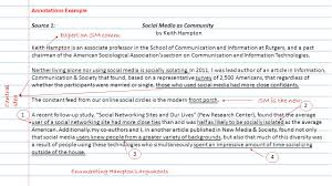 fsa writing argumentative essays english language arts your guide annotations example source 1 social media as community by keith hampton keith hampton is an