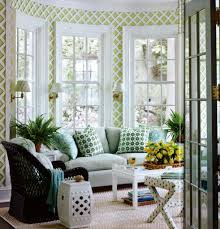 sunroom furniture arrangement. Sunroom Furniture Ideas With White Upolstery Sofa Black Rattan Wicker Chair Rectangle Wooden Table On Patterned Cream Rug Sun Room Area Rugs Chairs Glass Arrangement