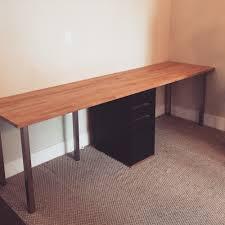 diy ikea desk parts karlby countertop beech 139 sjunne leg nickel plated