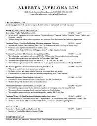 Good Job Objectives For Resume Musiccityspiritsandcocktail Com