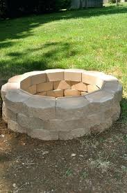how to build a backyard fire pit out of bricks outdoor fire pit how bricks for