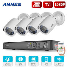 ANNKE 1080P 8CH Video DVR Home Security Camera System, 4 Weatherproof Cameras Annke System