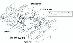 aiwa cd mechanism 3 cd changer how to adjust the rotating exploded view and part list schematic wiring diagram