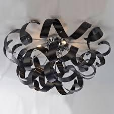 artcraft ac605bk bel air contemporary black halogen ceiling light fixture loading zoom