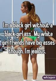 White v black girl ass