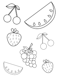 Free Summer Fruits Coloring Page Pdf For Toddlers Preschoolers