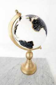 Small Picture Golden Globe DIY Painted globe Book shelves and Globe