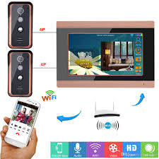 9 Inch Wired Wifi Video Door Phone Doorbell Intercom Entry System ...