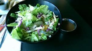 genghis grill side salad i wouldn t order again dressing overpowering