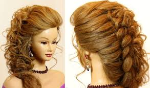 Wedding Hair Style Picture bridal hairstyle for long hair tutorial with braid youtube 4382 by wearticles.com