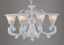 elegant 8 light white brushed silver iron vintage chandeliers