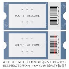 Blank Concert Ticket Template 96805141 Concert Ticket Template Party Or Festival Design With