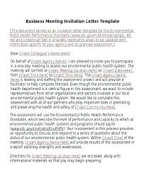 Business Meeting Request Template
