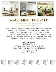 Apartment For Rent Advertisement Template Free Flyers For
