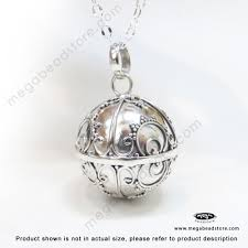 20mm large harmony ball bali sterling silver pendant p86 hover to zoom