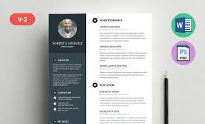 Resume Template Word Psd