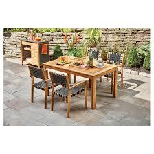 patio dining set sao paulo wood