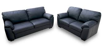 florence 3 2 seater black 108 black leather sofa