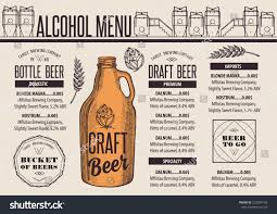 Beer Menu Placemat Food Restaurant Brochure Stock Vector 522094168 ...