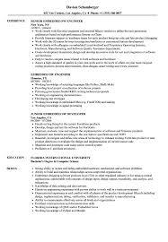 Embedded Sw Resume Samples Velvet Jobs