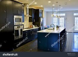 picturesque island kitchen modern. Modern Home Kitchen Interior With Beautiful Island Picturesque