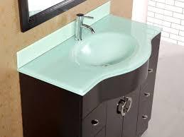 Bathrooms Design Glass Top Vanity Bathroom Throughout Sink