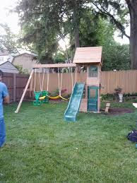 Big Backyard Ashberry II Swing Set  Walmartcom  Home Outdoor Big Backyard Ashberry Wood Swing Set